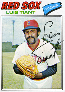 LUIS TIANT JR. - TRADING/SPORTS CARD SIGNED