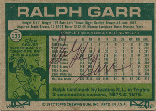 RALPH GARR - TRADING/SPORTS CARD SIGNED