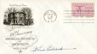 MAJOR EDWARD V. EDDIE RICKENBACKER - FIRST DAY COVER SIGNED