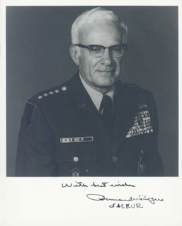 GENERAL BERNARD W. ROGERS - AUTOGRAPHED SIGNED PHOTOGRAPH