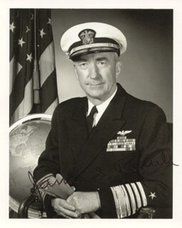 ADMIRAL JAMES S. RUSSELL - AUTOGRAPHED SIGNED PHOTOGRAPH