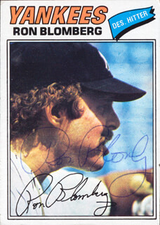 RON BLOMBERG - TRADING/SPORTS CARD SIGNED