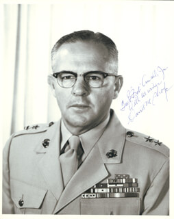 GENERAL DAVID M. SHOUP - AUTOGRAPHED SIGNED PHOTOGRAPH