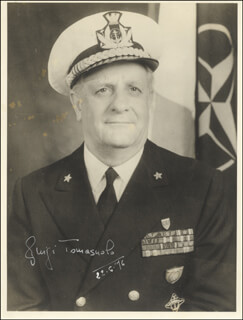 Autographs: ADMIRAL LUIGI TOMASUOLO - PHOTOGRAPH SIGNED 06/22/1976