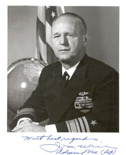 VICE ADMIRAL JOHN MYLIN WILL - AUTOGRAPHED SIGNED PHOTOGRAPH
