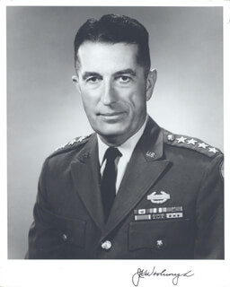GENERAL JAMES K. WOOLNOUGH - AUTOGRAPHED SIGNED PHOTOGRAPH CIRCA 1967
