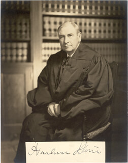 CHIEF JUSTICE HARLAN F. STONE - AUTOGRAPH