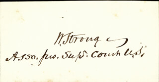 ASSOCIATE JUSTICE WILLIAM STRONG - AUTOGRAPH