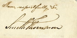 ASSOCIATE JUSTICE SMITH THOMPSON - AUTOGRAPH SENTIMENT SIGNED