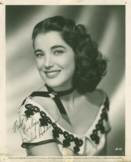 Autographs: JULIE ADAMS - PHOTOGRAPH SIGNED CIRCA 1952