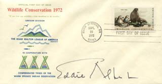 EDDIE ALBERT - FIRST DAY COVER SIGNED
