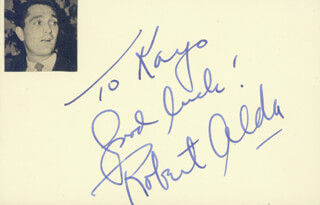 ROBERT ALDA - AUTOGRAPH NOTE SIGNED