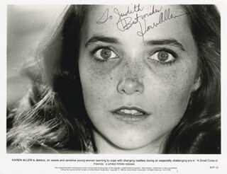 KAREN ALLEN - AUTOGRAPHED INSCRIBED PHOTOGRAPH