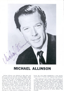 MICHAEL ALLINSON - PROGRAM PAGE SIGNED