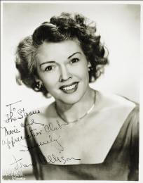 FRAN ALLISON - AUTOGRAPHED INSCRIBED PHOTOGRAPH