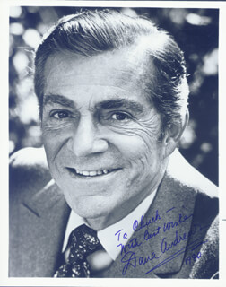 DANA ANDREWS - AUTOGRAPHED SIGNED PHOTOGRAPH 1980