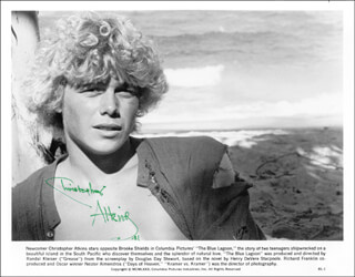 CHRISTOPHER ATKINS - AUTOGRAPHED SIGNED PHOTOGRAPH 1981