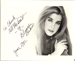 BLANCHE BAKER - AUTOGRAPHED INSCRIBED PHOTOGRAPH 6/1982