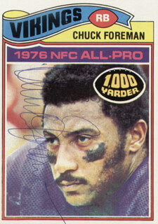 CHUCK FOREMAN - TRADING/SPORTS CARD SIGNED