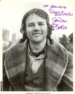 JOE DON BAKER - AUTOGRAPHED INSCRIBED PHOTOGRAPH CIRCA 1971