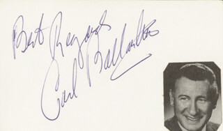 CARL BALLANTINE - AUTOGRAPH SENTIMENT SIGNED