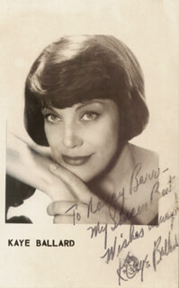 KAYE BALLARD - INSCRIBED PICTURE POSTCARD SIGNED