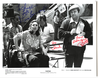 FATSO MOVIE CAST - AUTOGRAPHED INSCRIBED PHOTOGRAPH CO-SIGNED BY: ANNE BANCROFT, DOM DELUISE