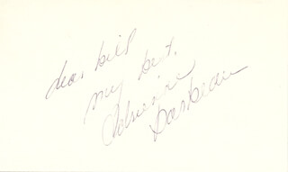 ADRIENNE BARBEAU - AUTOGRAPH NOTE SIGNED