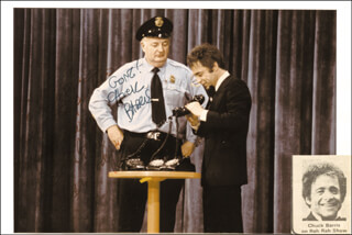 GONG SHOW TV CAST - AUTOGRAPHED INSCRIBED PHOTOGRAPH CO-SIGNED BY: CHUCK BARRIS, IVAN CARMODY