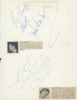 JOHN B. BARRYMORE JR. - INSCRIBED SIGNATURE CO-SIGNED BY: CARA WILLIAMS
