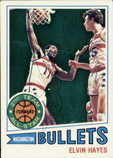 ELVIN HAYES - TRADING/SPORTS CARD SIGNED