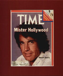 WARREN BEATTY - MAGAZINE COVER SIGNED  - HFSID 24712