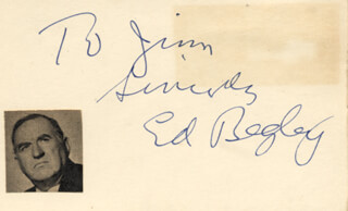 ED BEGLEY SR. - INSCRIBED SIGNATURE