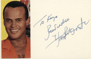 Autographs: HARRY BELAFONTE - AUTOGRAPH NOTE SIGNED