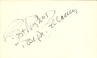 RALPH BELLAMY - AUTOGRAPH SENTIMENT SIGNED