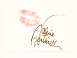 VALERIE BERTINELLI - LIP PRINT SIGNED