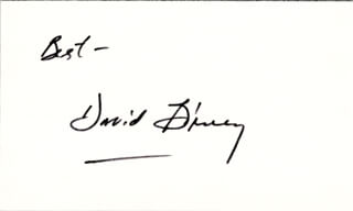 DAVID E. BIRNEY - AUTOGRAPH SENTIMENT SIGNED