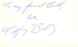 TIFFANY BOLLING - AUTOGRAPH NOTE SIGNED