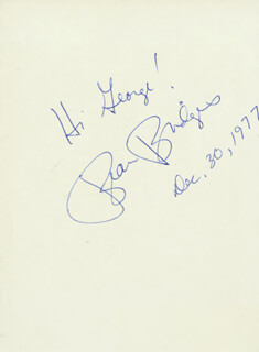 BEAU BRIDGES - INSCRIBED SIGNATURE 12/30/1977