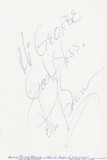 PETER BROWN - AUTOGRAPH NOTE SIGNED