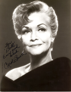 CAROL BRUCE - AUTOGRAPHED INSCRIBED PHOTOGRAPH