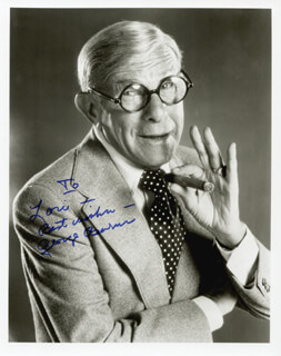 GEORGE BURNS - AUTOGRAPHED INSCRIBED PHOTOGRAPH