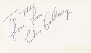 CHRIS CALLOWAY - AUTOGRAPH NOTE SIGNED