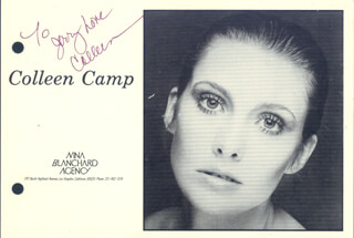 COLLEEN CAMP - INSCRIBED PRINTED PHOTOGRAPH SIGNED IN INK