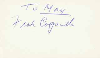 FRANK CAMPANELLA - INSCRIBED SIGNATURE