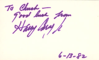 HARRY CAREY JR. - AUTOGRAPH NOTE SIGNED 06/13/1982
