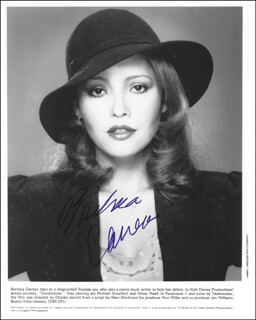BARBARA CARRERA - PRINTED PHOTOGRAPH SIGNED IN INK