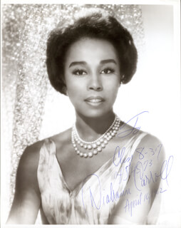 DIAHANN CARROLL - AUTOGRAPHED INSCRIBED PHOTOGRAPH 04/10/1962