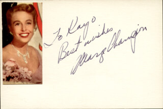 MARGE CHAMPION - AUTOGRAPH NOTE SIGNED