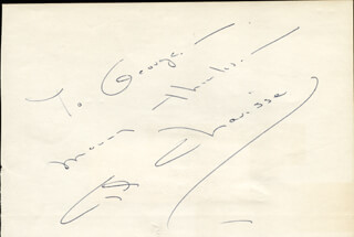 CYD CHARISSE - INSCRIBED SIGNATURE CO-SIGNED BY: PEGGY KING